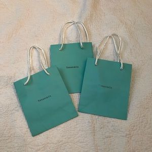 Tiffany & co set of 3 Small shopping bags